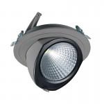 CLE YK FORTIMO SLM LED Einbauleuchte 43W 3000LM alugrau schwenkbar